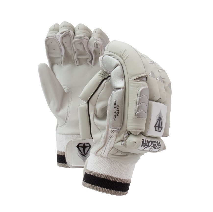 Solitaire Batting Gloves Banner White
