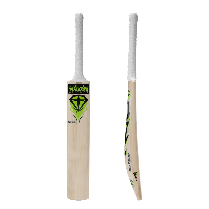 Solitaire Cricket Bat White Banner